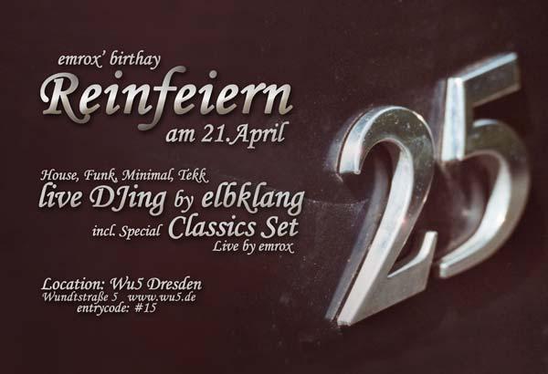 Einladungskarten 25 Geburtstag U2013 Cloudhash, Einladungsentwurf